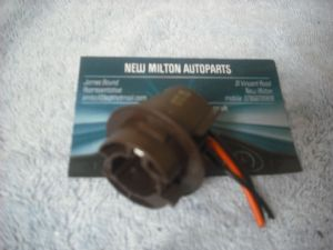 A GENUINE HONDA CIVIC MK7 REAR LIGHT BULB HOLDER    DARK  BROWN   3 WIRE